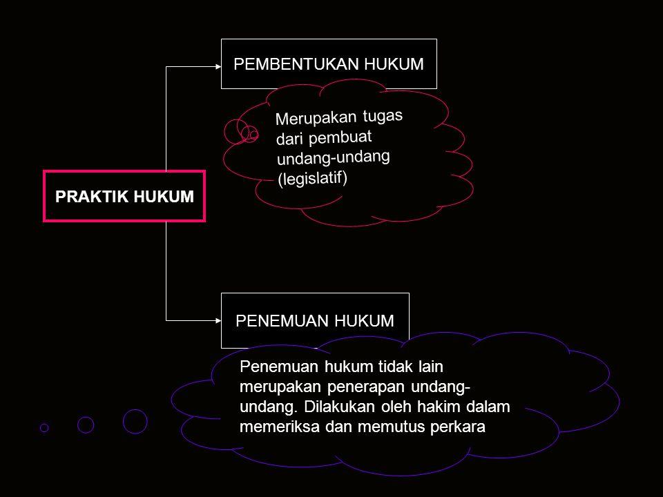 Merupakan tugas dari pembuat undang-undang (legislatif)