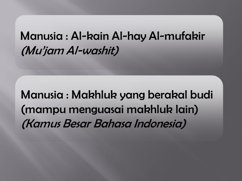 Manusia : Al-kain Al-hay Al-mufakir