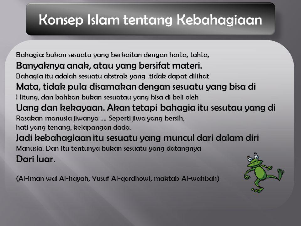 Konsep Islam tentang Kebahagiaan