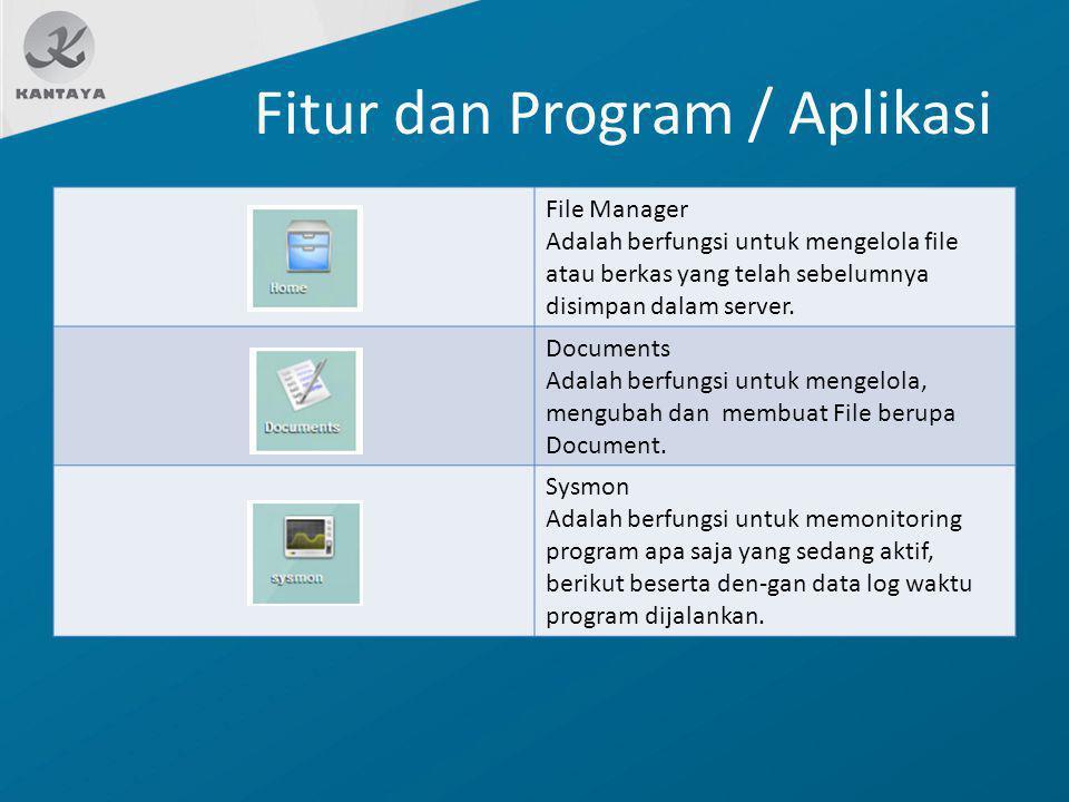 Fitur dan Program / Aplikasi