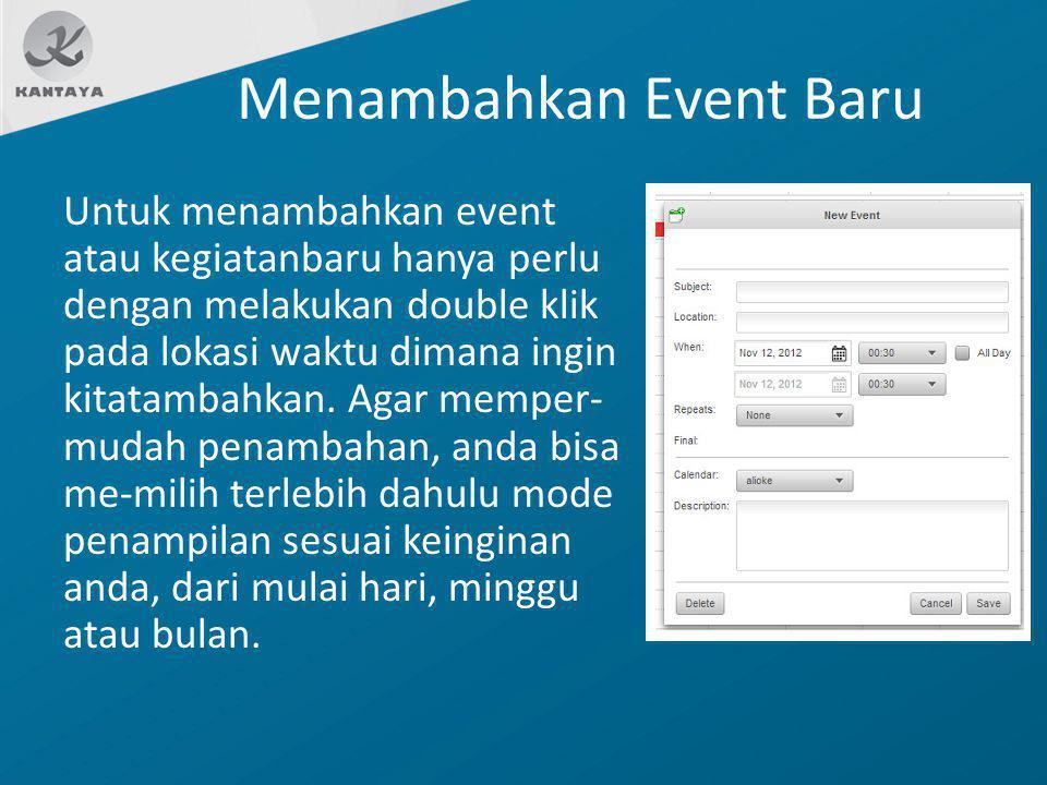 Menambahkan Event Baru
