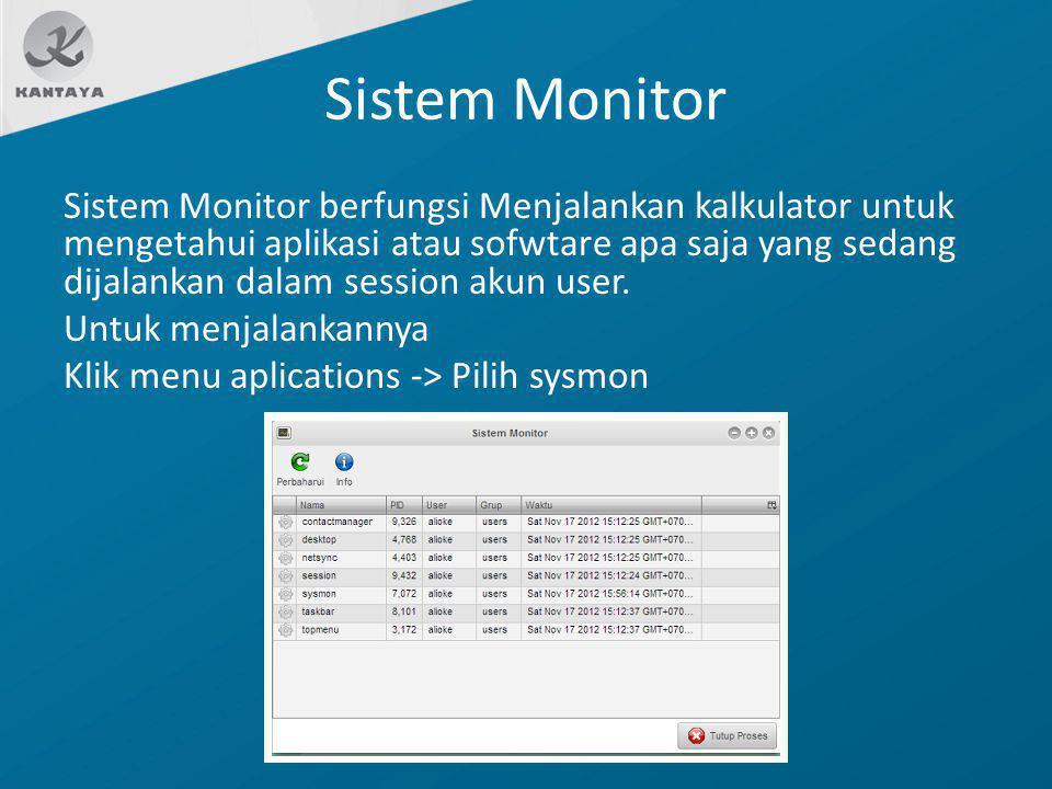 Sistem Monitor