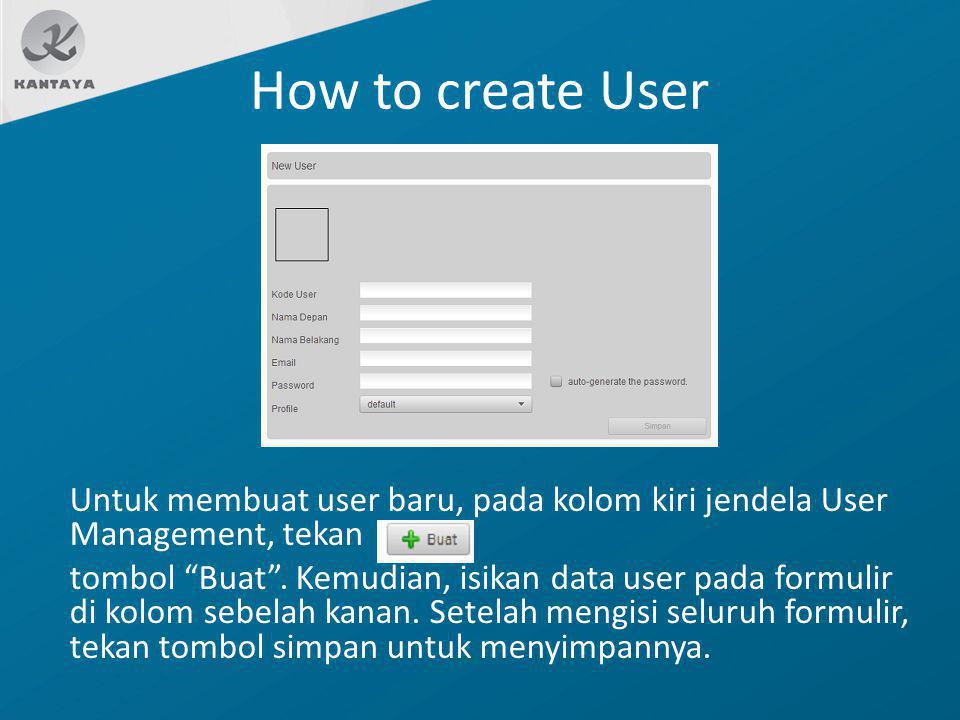 How to create User