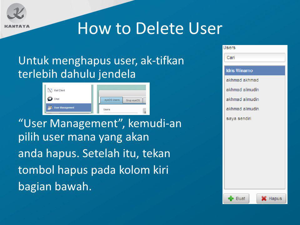 How to Delete User