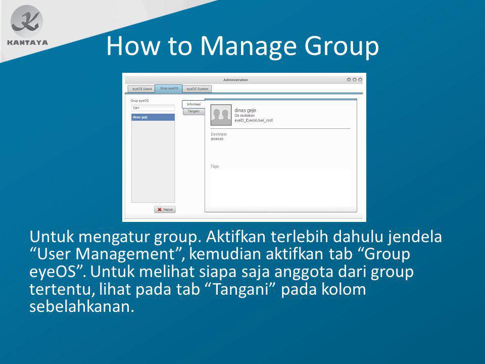 How to Manage Group
