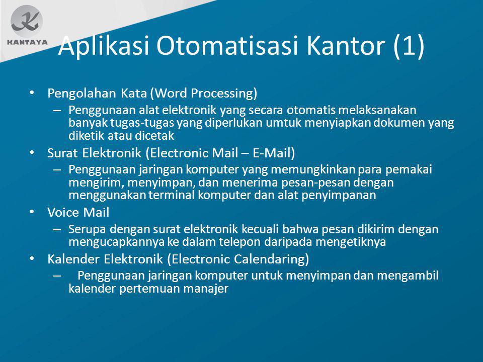 Aplikasi Otomatisasi Kantor (1)