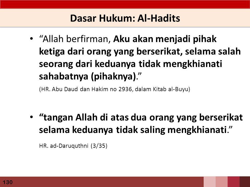 Dasar Hukum: Al-Hadits