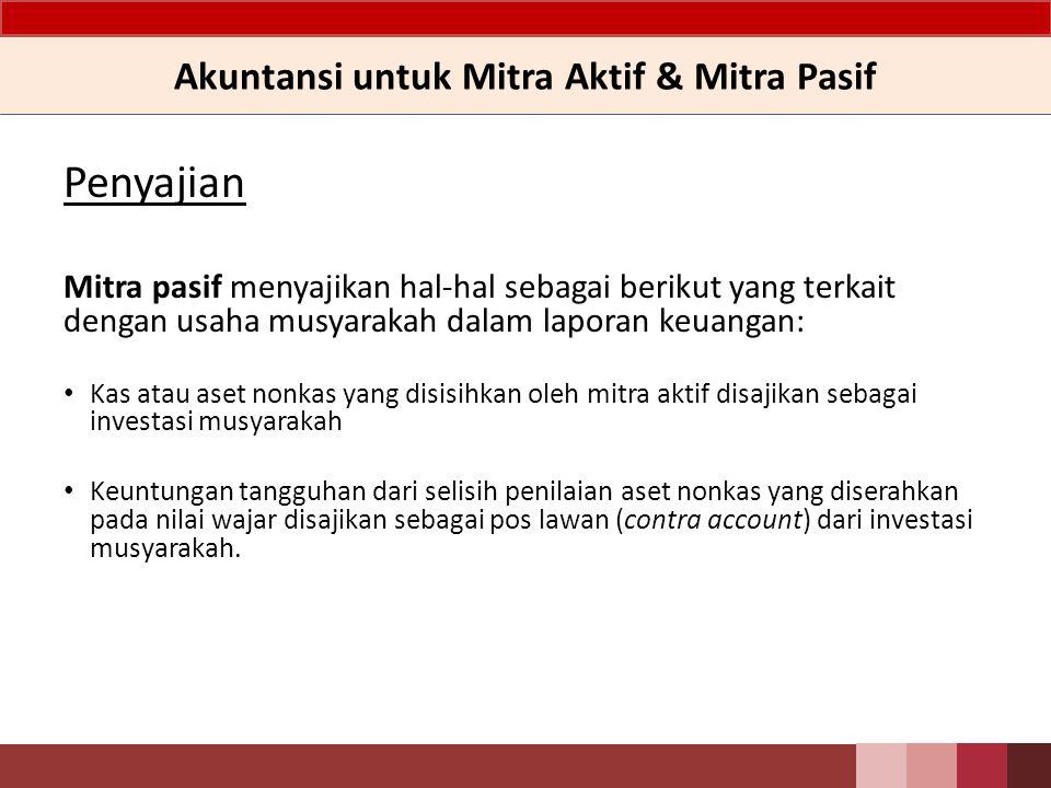 Akuntansi untuk Mitra Aktif & Mitra Pasif