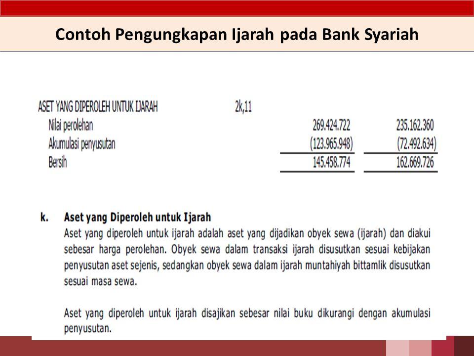 Contoh Pengungkapan Ijarah pada Bank Syariah