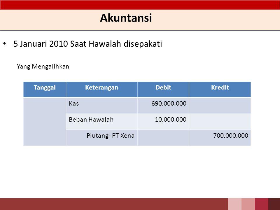 Akuntansi 5 Januari 2010 Saat Hawalah disepakati Yang Mengalihkan