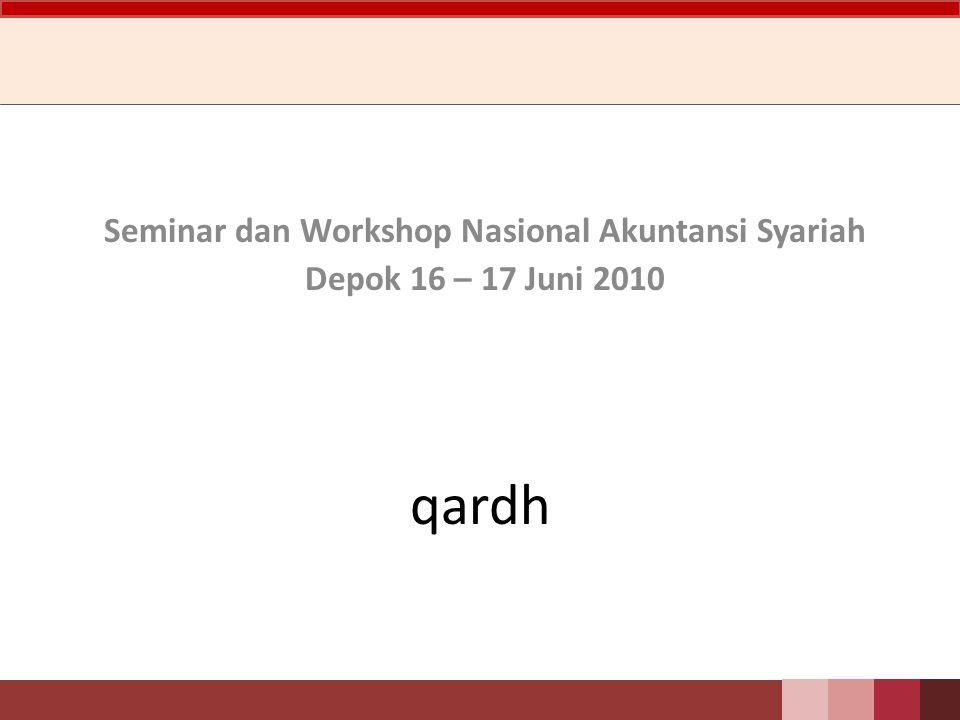 Seminar dan Workshop Nasional Akuntansi Syariah