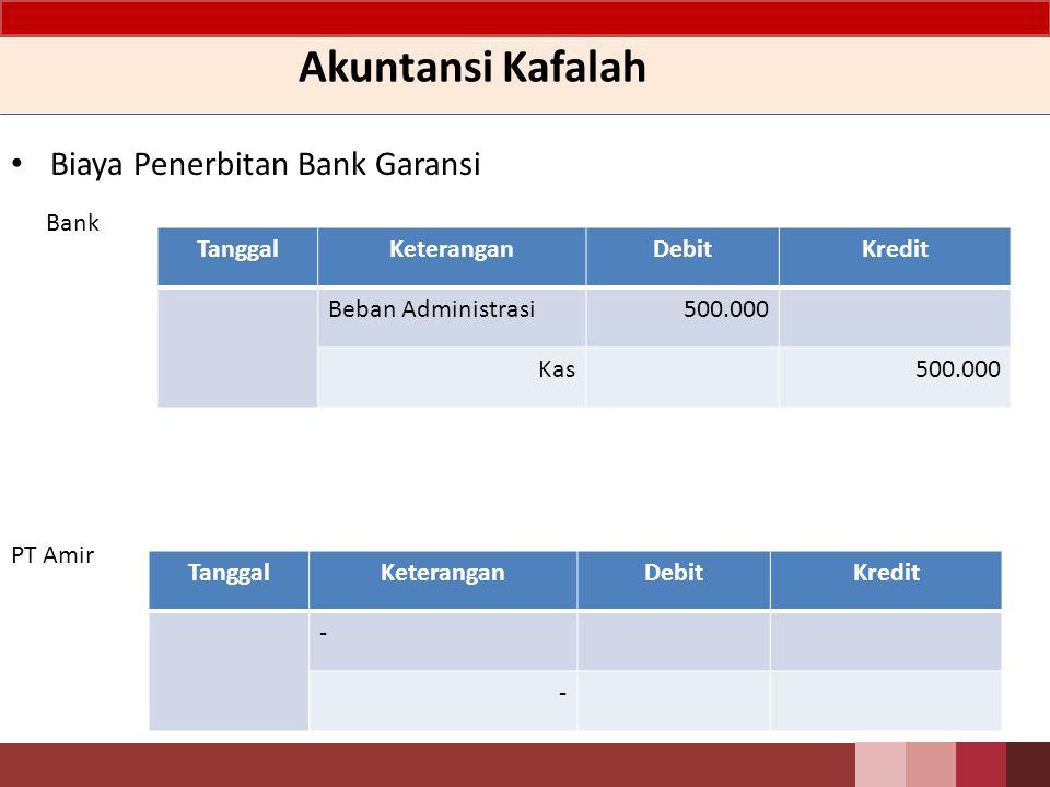 Akuntansi Kafalah Biaya Penerbitan Bank Garansi Bank Tanggal