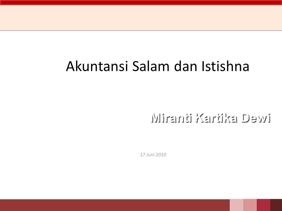 Akuntansi Salam dan Istishna