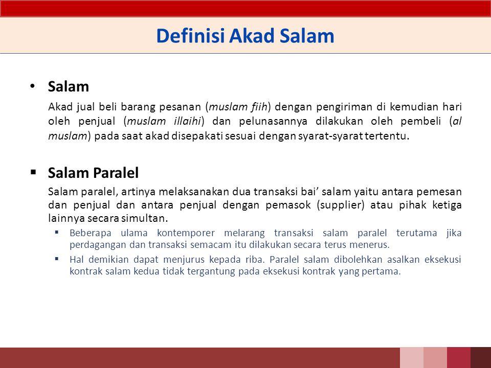 Definisi Akad Salam Salam Salam Paralel