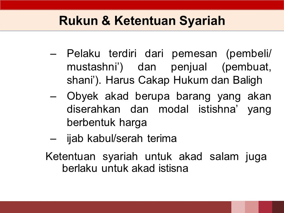 Rukun & Ketentuan Syariah