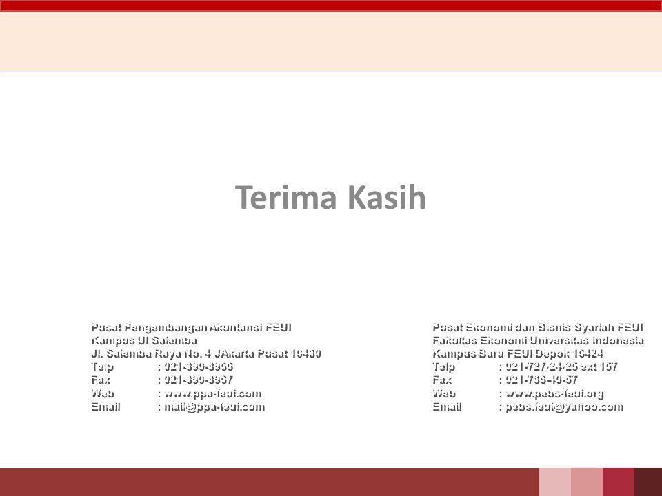 Terima Kasih Pusat Pengembangan Akuntansi FEUI Kampus UI Salemba