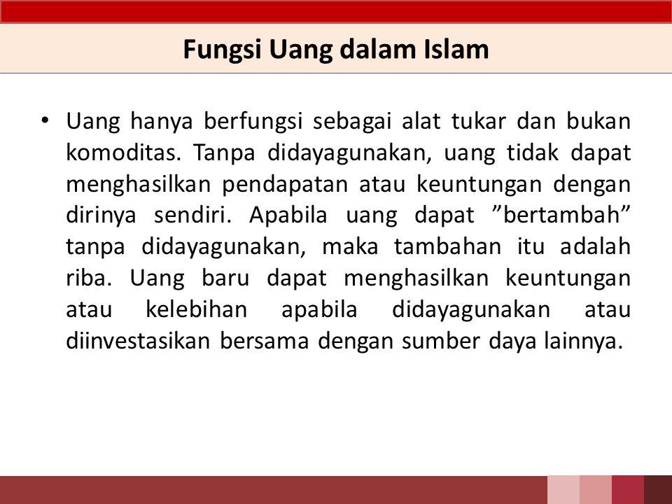 Fungsi Uang dalam Islam
