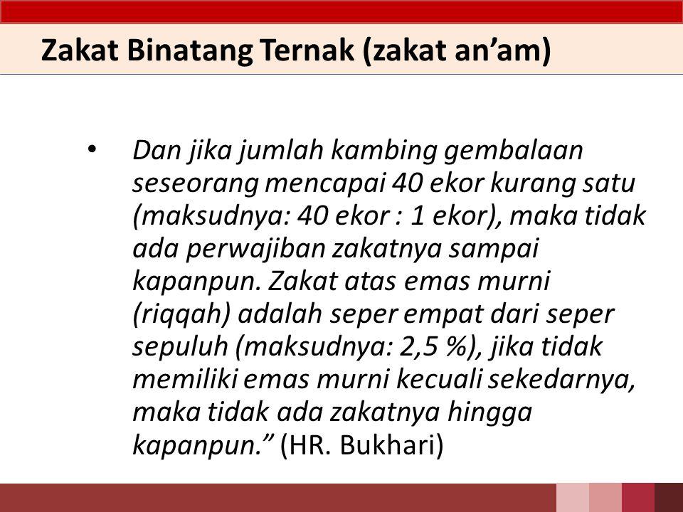 Zakat Binatang Ternak (zakat an'am)