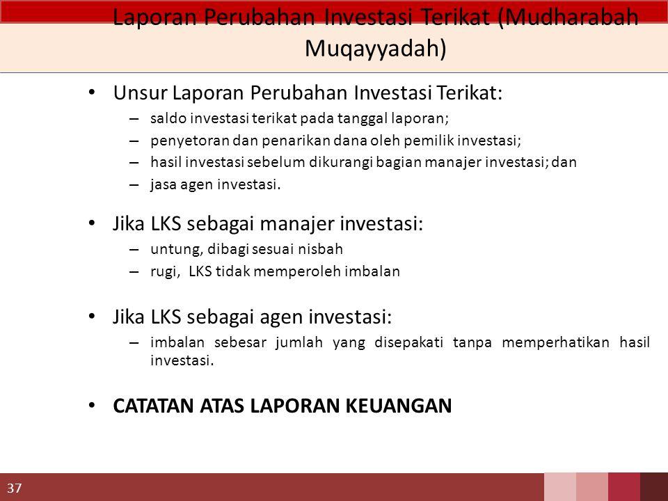 Laporan Perubahan Investasi Terikat (Mudharabah Muqayyadah)