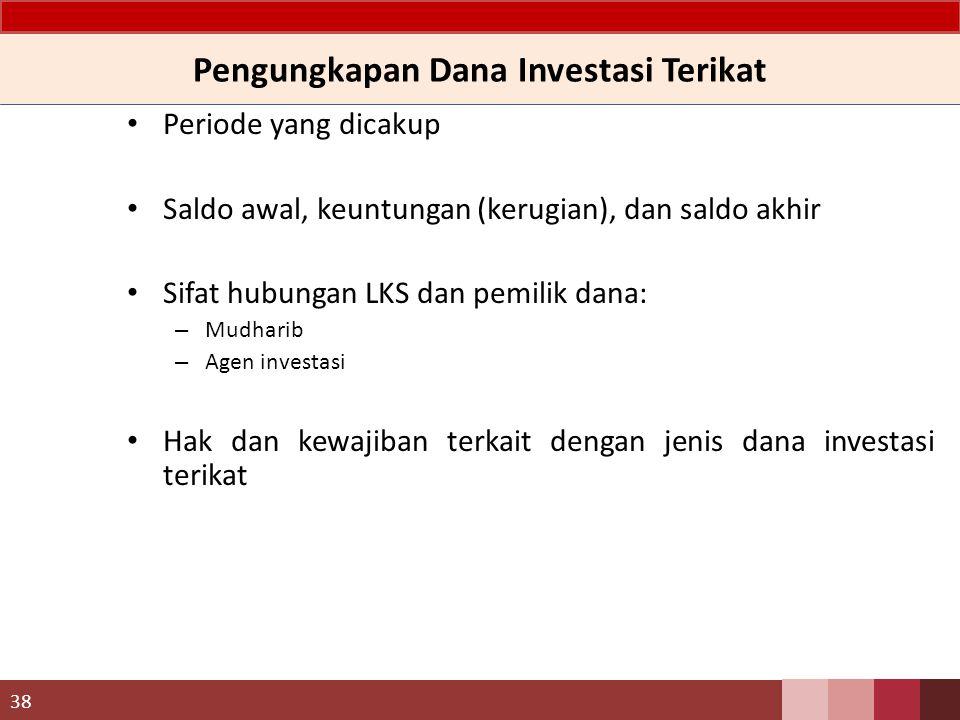 Pengungkapan Dana Investasi Terikat