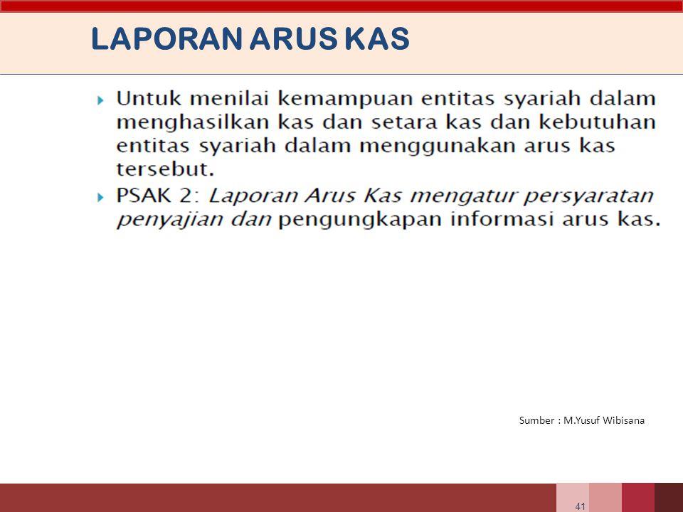 LAPORAN ARUS KAS Sumber : M.Yusuf Wibisana 41