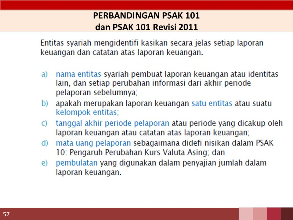 PERBANDINGAN PSAK 101 dan PSAK 101 Revisi 2011