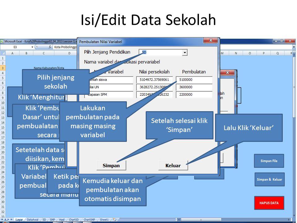 Isi/Edit Data Sekolah Pilih jenjang sekolah