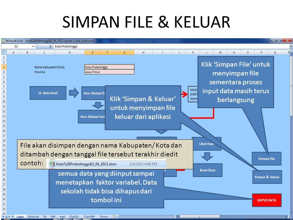 Klik 'Simpan & Keluar' untuk menyimpan file keluar dari aplikasi