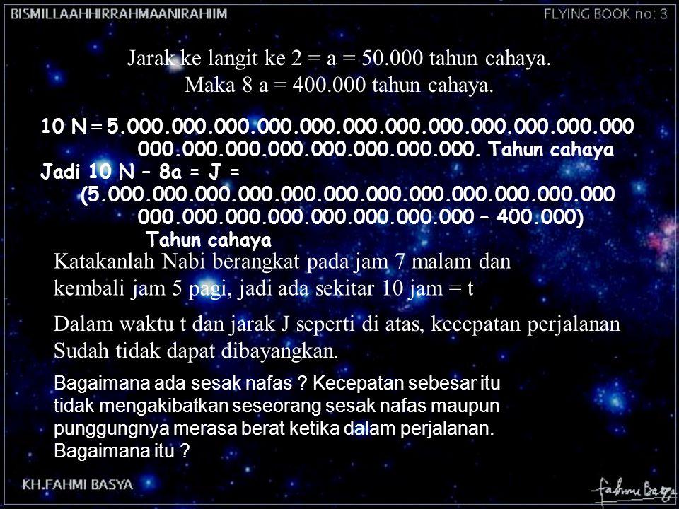 Jarak ke langit ke 2 = a = 50.000 tahun cahaya.
