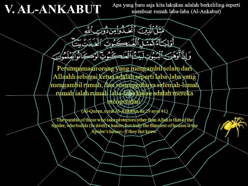 (Al-Quran, surat Al-Ankabut, ke 29 ayat 41)