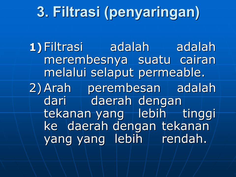 3. Filtrasi (penyaringan)