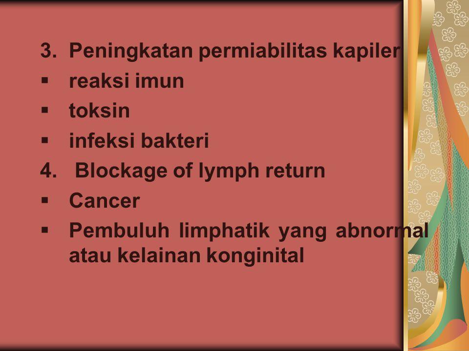 3. Peningkatan permiabilitas kapiler