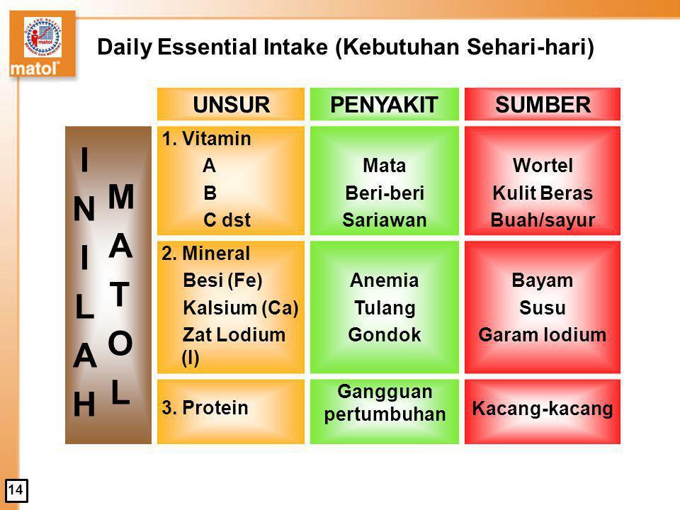 Daily Essential Intake (Kebutuhan Sehari-hari)