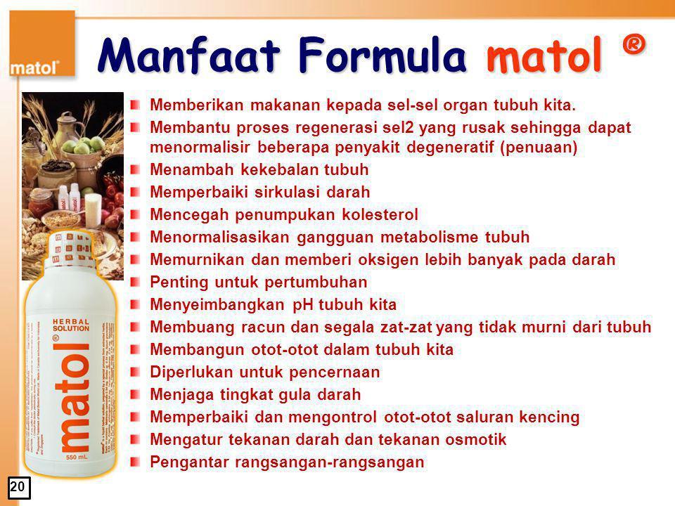 Manfaat Formula matol ®