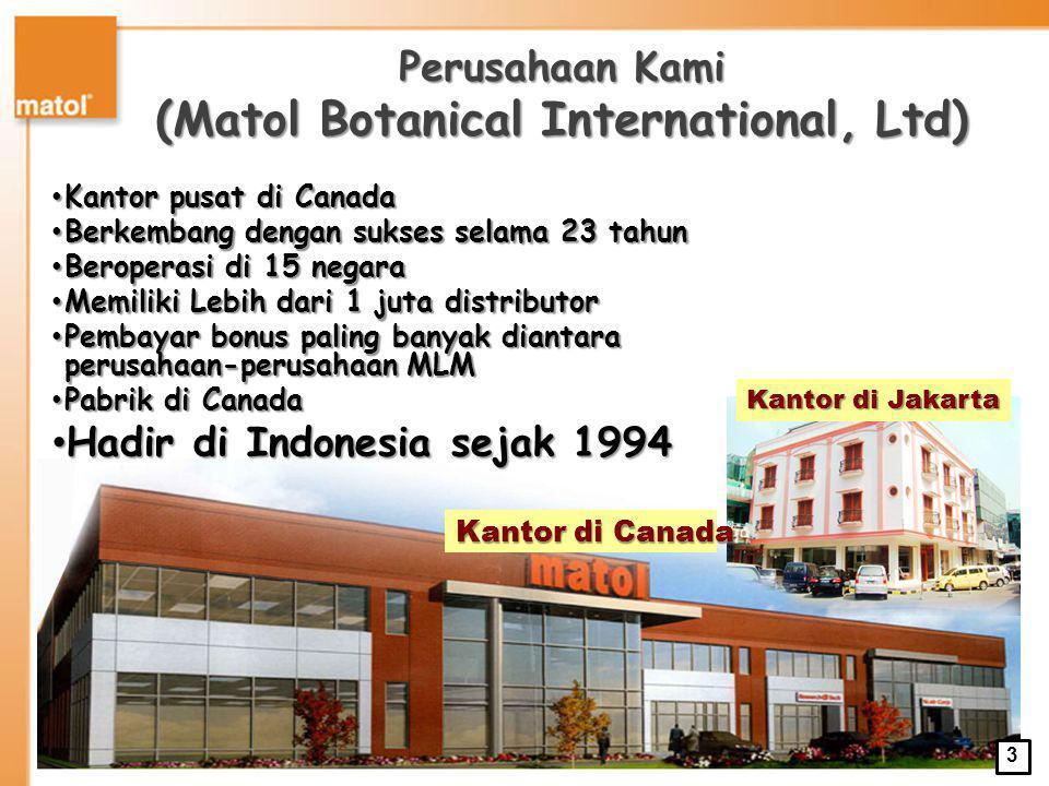 Perusahaan Kami (Matol Botanical International, Ltd)