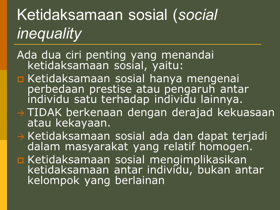 Ketidaksamaan sosial (social inequality