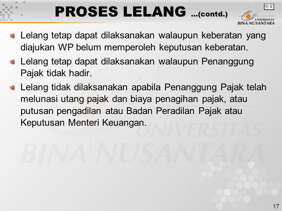 PROSES LELANG …(contd.)