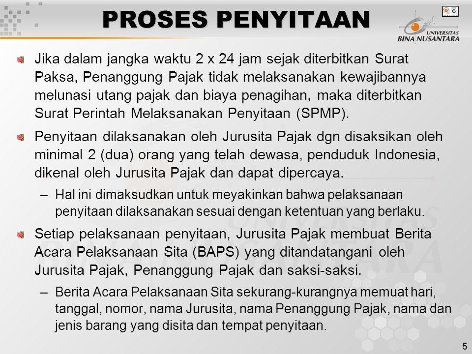 PROSES PENYITAAN