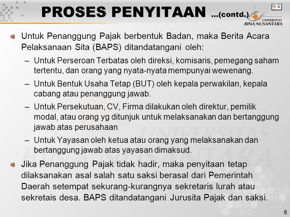 PROSES PENYITAAN …(contd.)