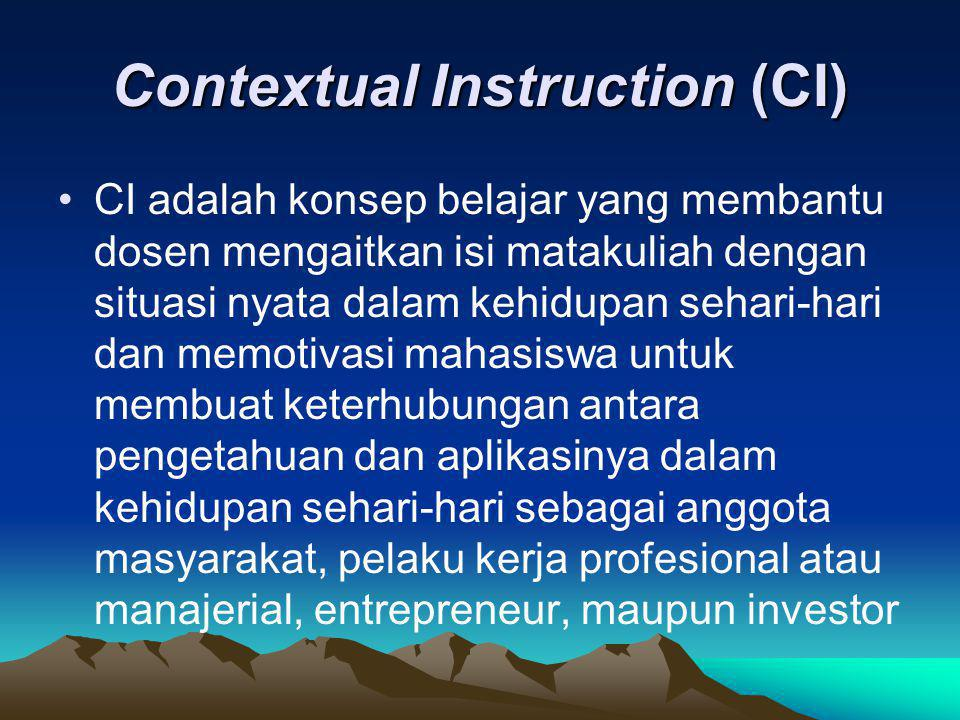 Contextual Instruction (CI)