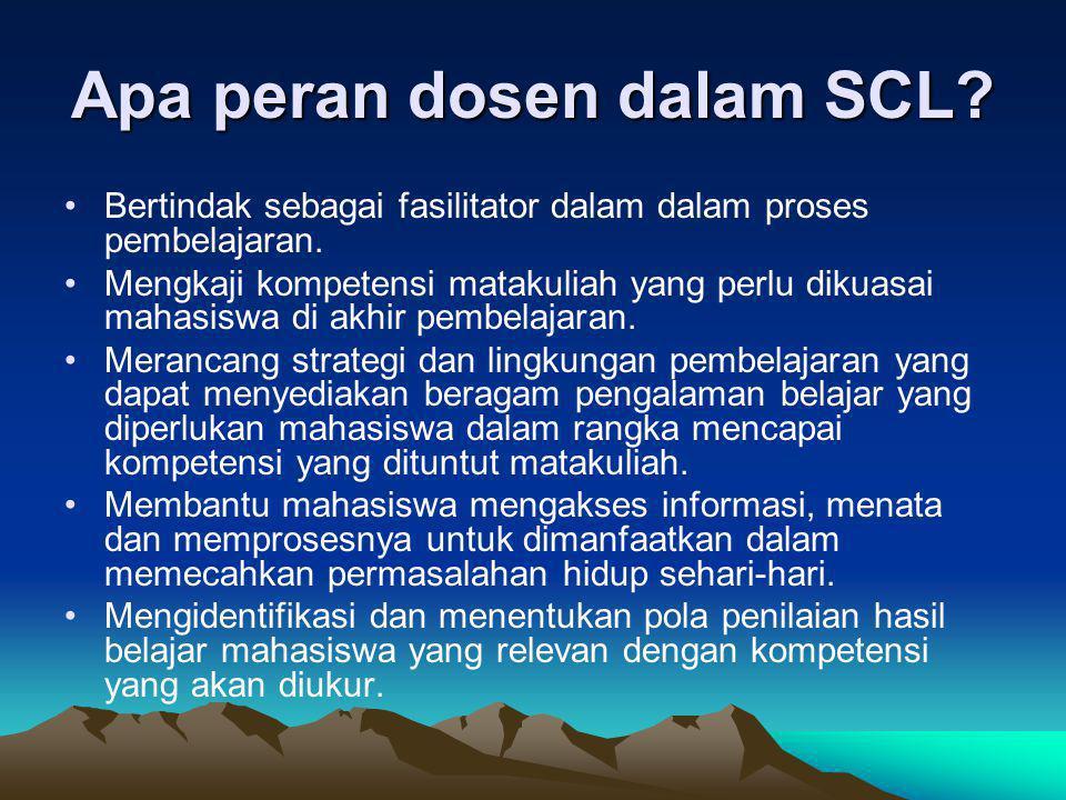 Apa peran dosen dalam SCL