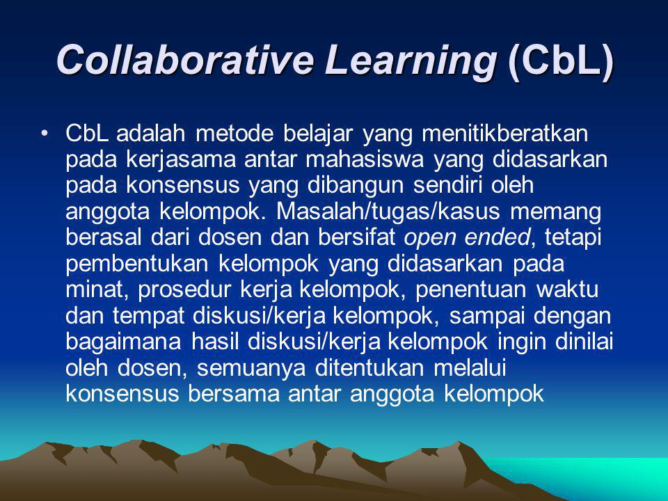 Collaborative Learning (CbL)