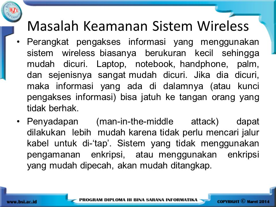 Masalah Keamanan Sistem Wireless