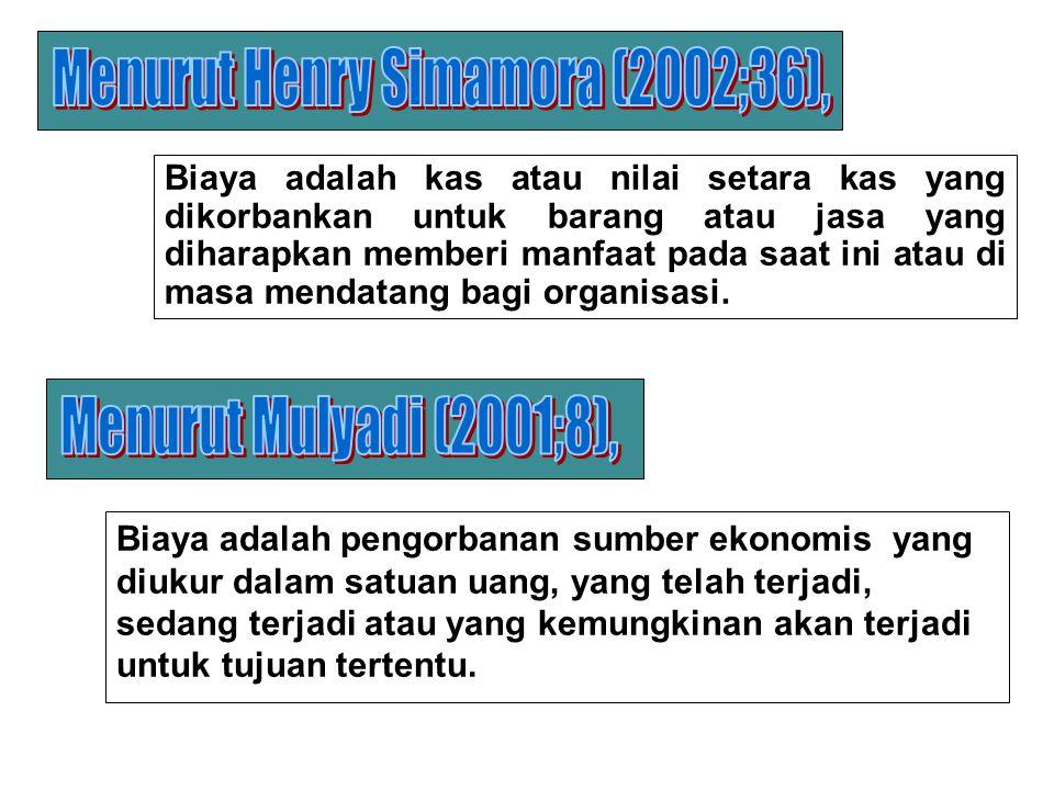 Menurut Henry Simamora (2002;36),