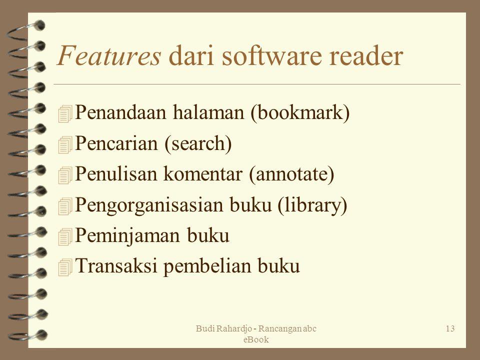 Features dari software reader