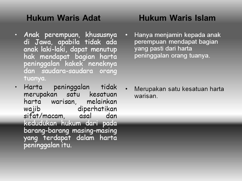 Hukum Waris Adat Hukum Waris Islam