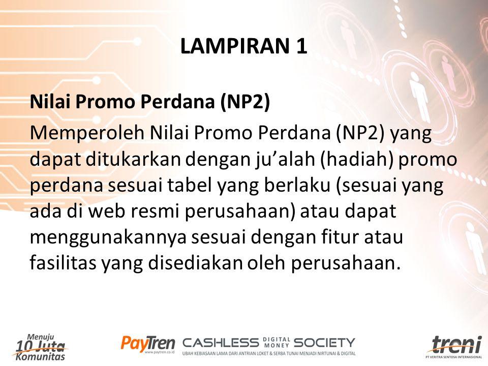 LAMPIRAN 1 Nilai Promo Perdana (NP2)