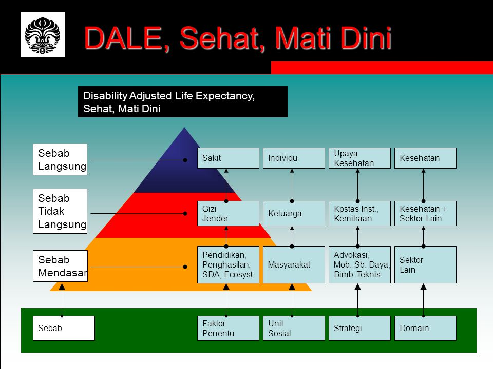 DALE, Sehat, Mati Dini Disability Adjusted Life Expectancy,