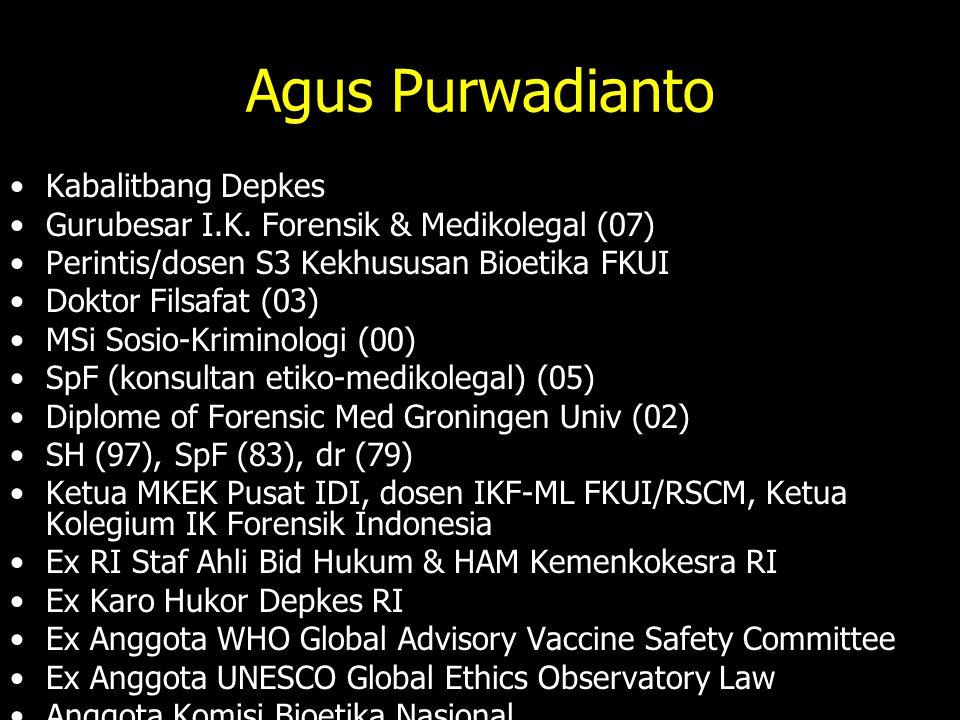 Agus Purwadianto Kabalitbang Depkes