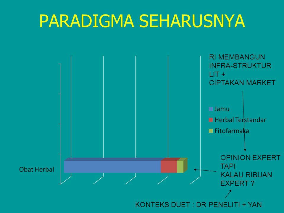 PARADIGMA SEHARUSNYA RI MEMBANGUN INFRA-STRUKTUR LIT + CIPTAKAN MARKET